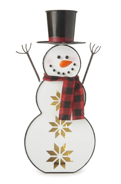 LED Scarf Snowman Tabletop Decor