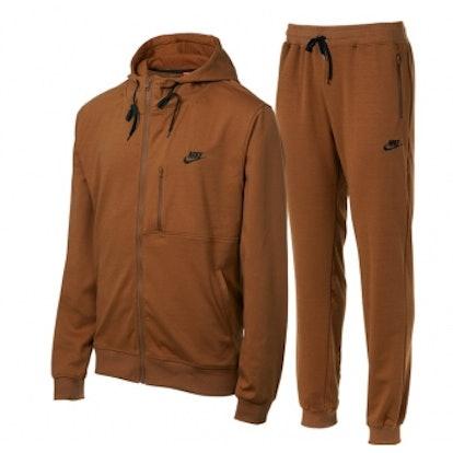 Nike Sportswear Tech Pack Men's Knit Track Suite Gold Suede