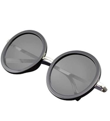 black round circle sunglasses