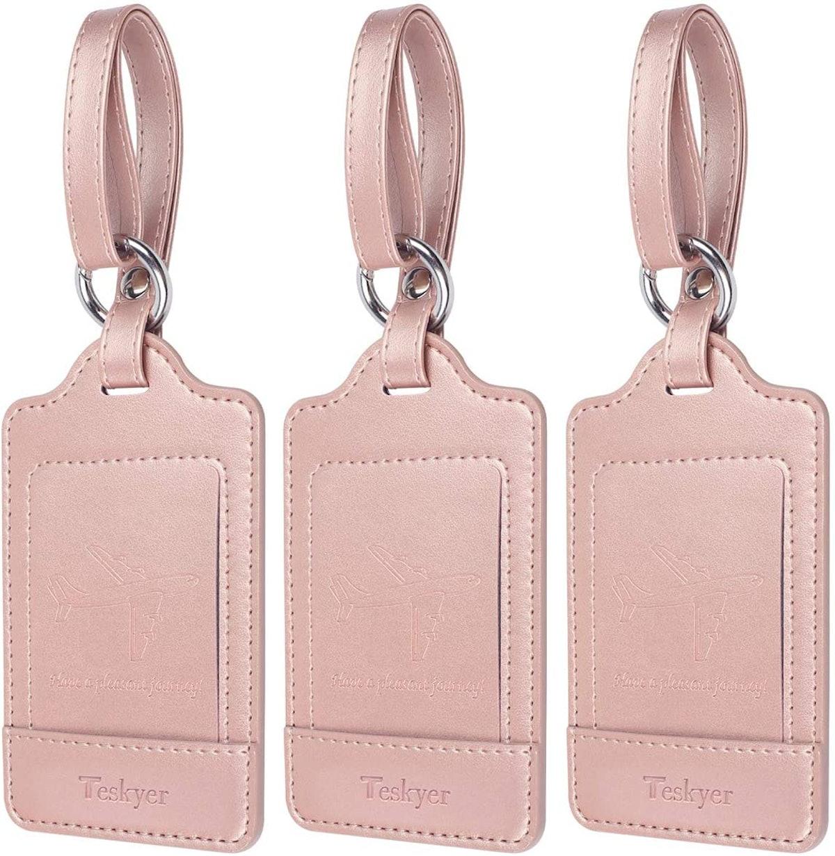 Luggage Tags, 3 Pack Teskyer Premium