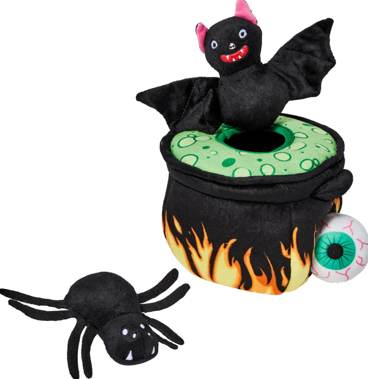 Frisco Halloween Witch's Cauldron Hide and Seek Plush Puzzle Dog Toy