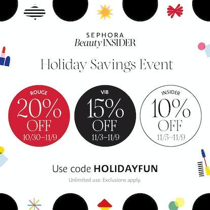 Sephora's Holiday Savings Event begins Oct. 30