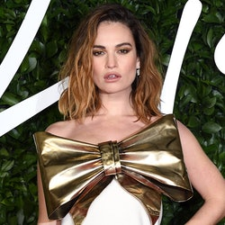 Lily James at a red carpet event