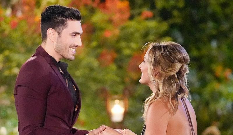 AJ and Clare on The Bachelorette via the ABC press site