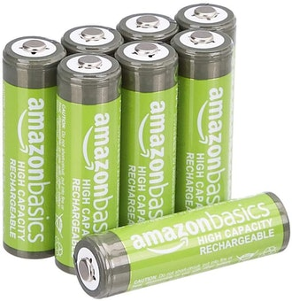 AmazonBasics AA High-Capacity Rechargeable Batteries, Pack of 8
