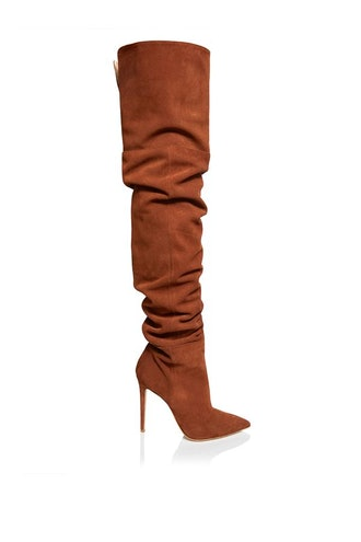 Cognac Scrunchie Boot