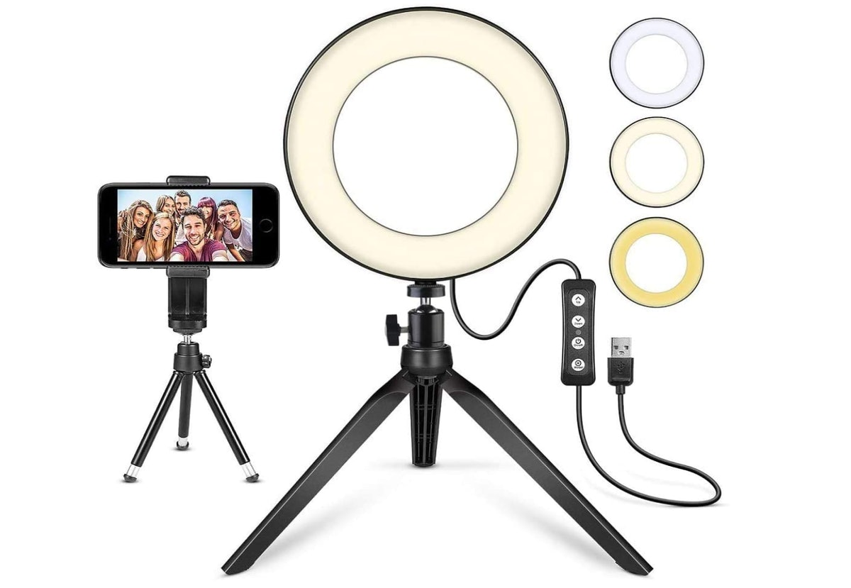 MACTREM 6-Inch LED Ring Light With Tripod Stand