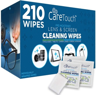 Care Touch Lens & Screen Cleaning Wipes (210 Count)