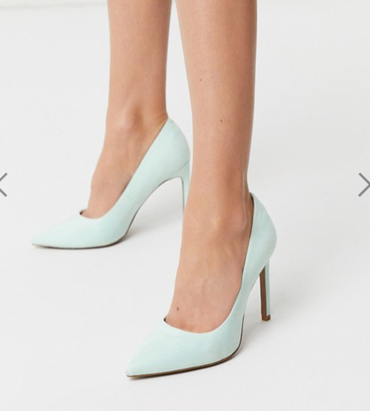 ASOS DESIGN Porto pointed high heeled pumps in peppermint green