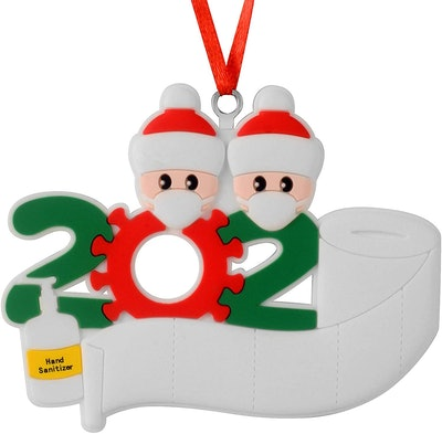 Christmas Decorations Indoor, 2020 Christmas Ornament Quarantine Survivor Personalized Decorating Gifts Customized Party Decor for 1-7 Family Members