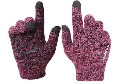 Achiou Winter Knit Touchscreen Gloves