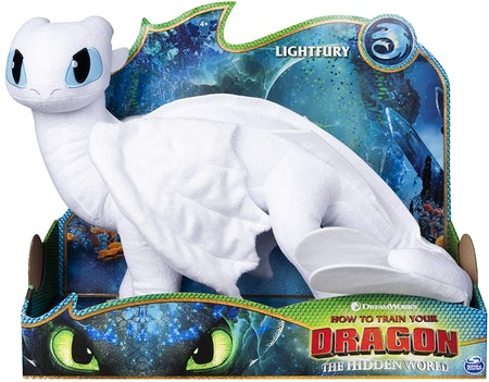 DreamWorks Dragons Lightfury, 14-inch Deluxe Plush Dragon