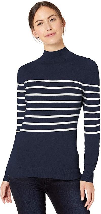 Amazon Essentials Lightweight Mock Neck Sweater