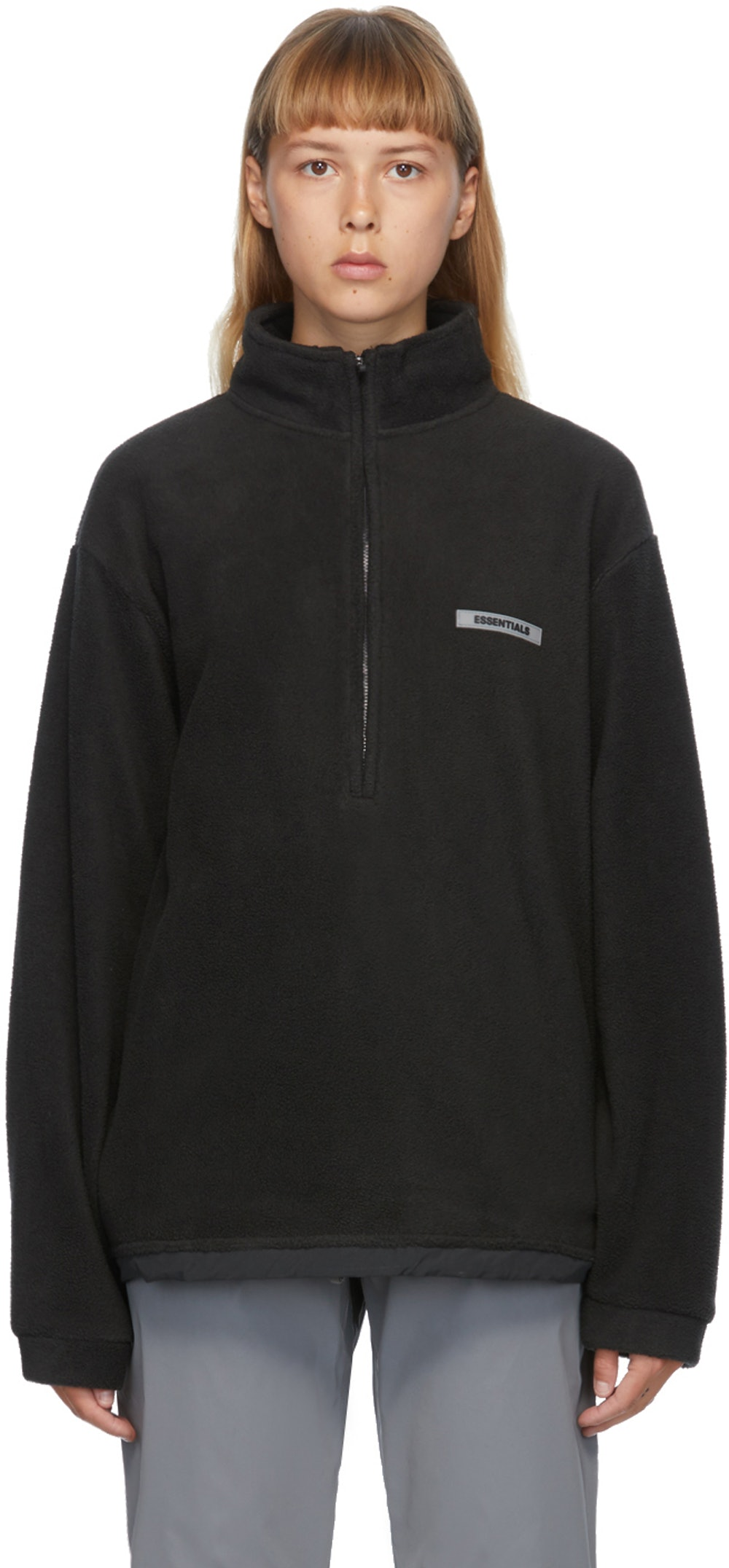 Black Polar Fleece Sweater
