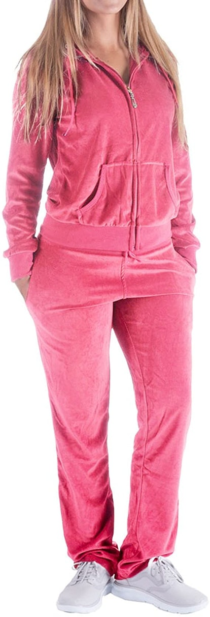 Facitisu Store Sweatsuits for Women Tracksuit 2 Piece Outfits Velour & Fleece Active Wear