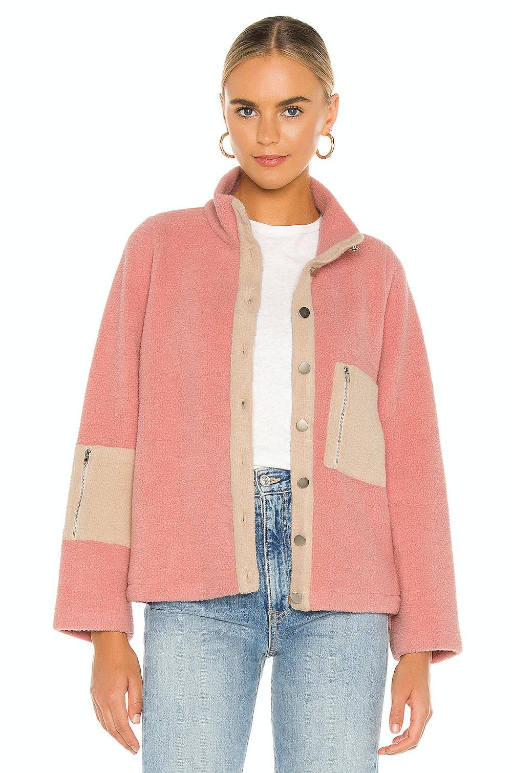 Callie Contrast Fleece Jacket