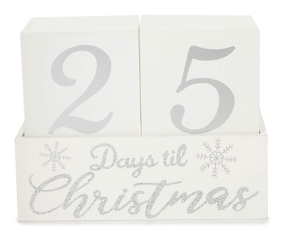 Snowflake & Block Countdown Calendar Tabletop Decor
