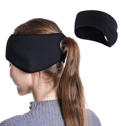 TALONITE Running Ear Warmer Ponytail Headband