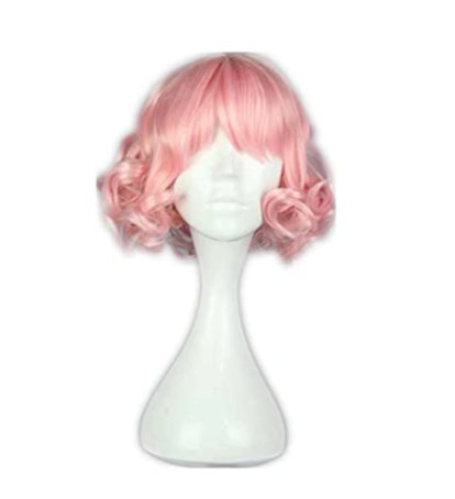 Cosplay Wigs Costume Hair In Pastel Pink