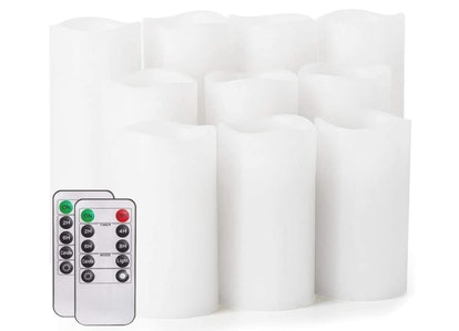 salipt Flameless Candles with Remote (Set Of 10)