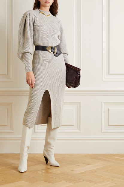 Perrine Ribbed Cashmere And Wool-Blend Midi Dress
