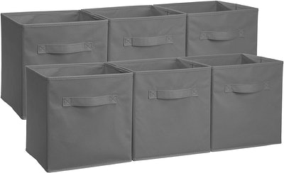AmazonBasics Collapsible Fabric Storage Cubes (6-Pack)