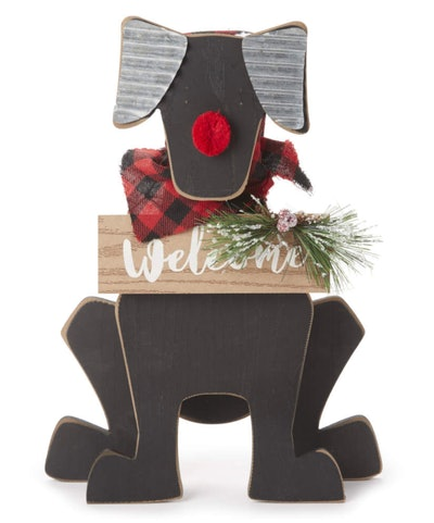 """Welcome"" Holiday Dog Decor"