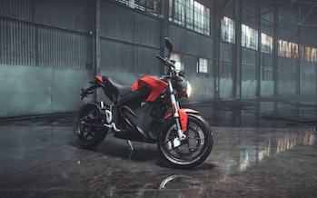 Zero SR electric motorcycle.