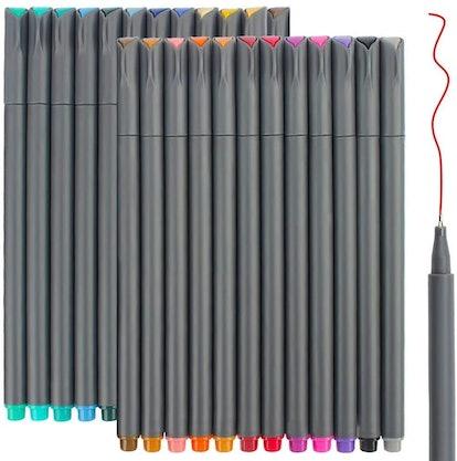 Taotree Fineline Pens Color Set (24-Pack)