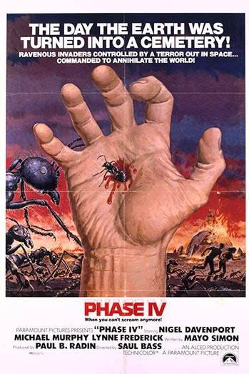 Unlike the work of Saul Bass, this (very cool) poster gives no sense of what Phase IV is like.