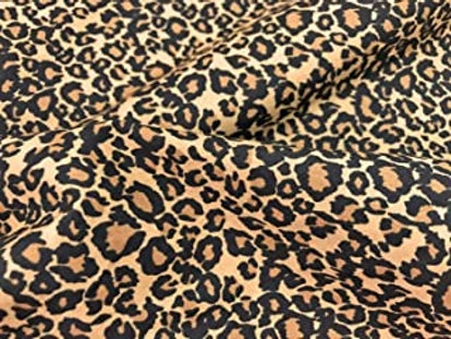 Amornphan 44 Inch Brown Color Leopard Pattern Animal Cheetah Tiger Print 100% Cotton Fabric for Patchwork Needlework DIY Handmade Sewing Crafting for 1 Yard. Brand: Amornphan