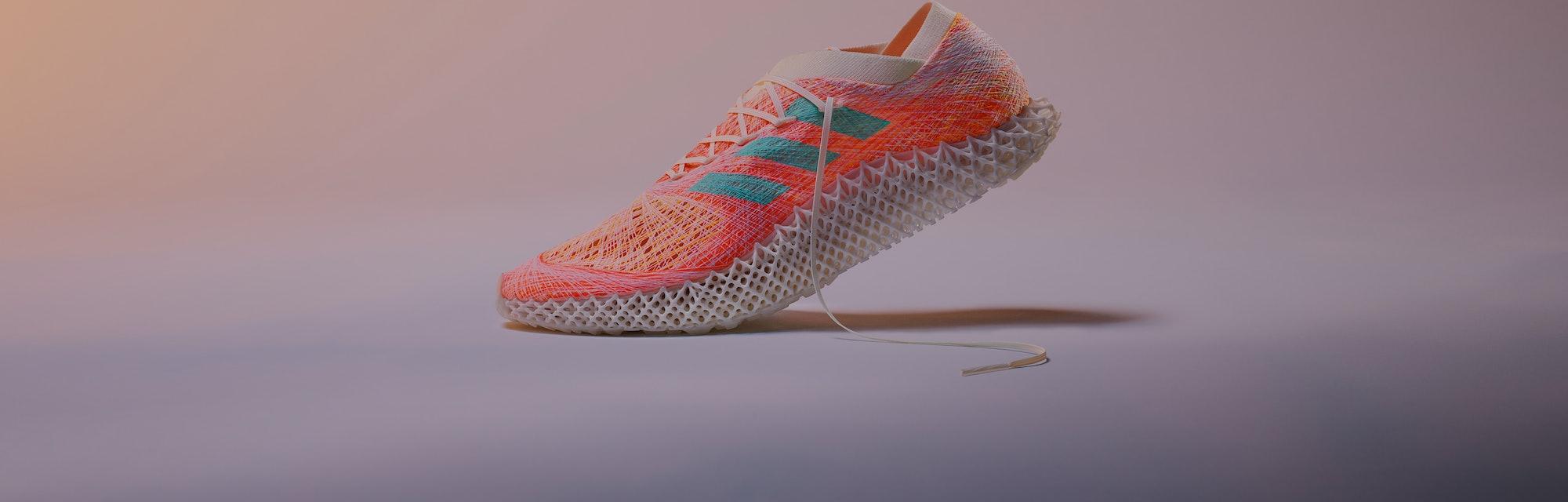 "Adidas ""Strung"" sneaker."