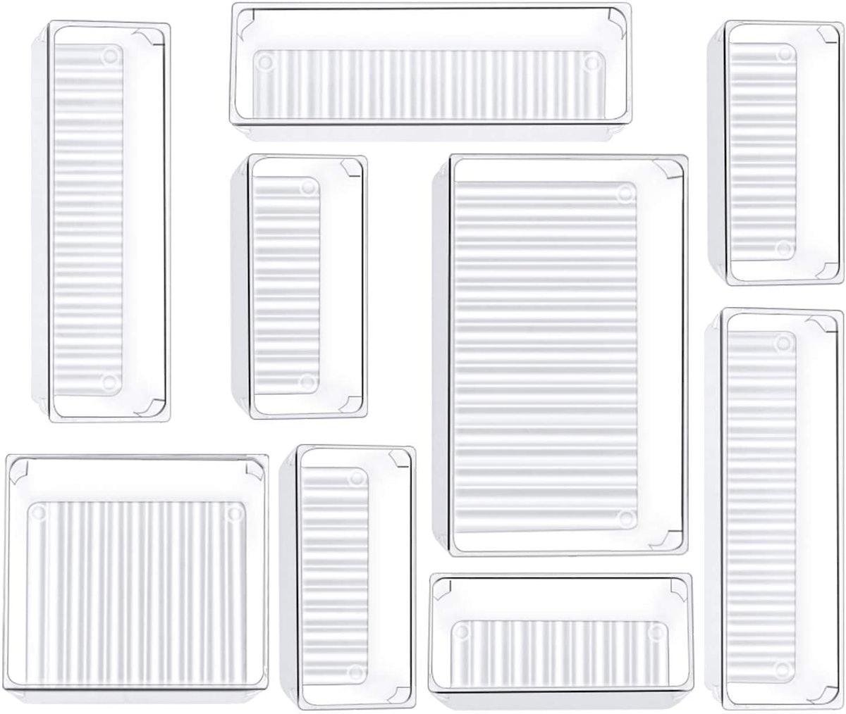 Kootek Drawer Organizer Trays (9 Pieces)