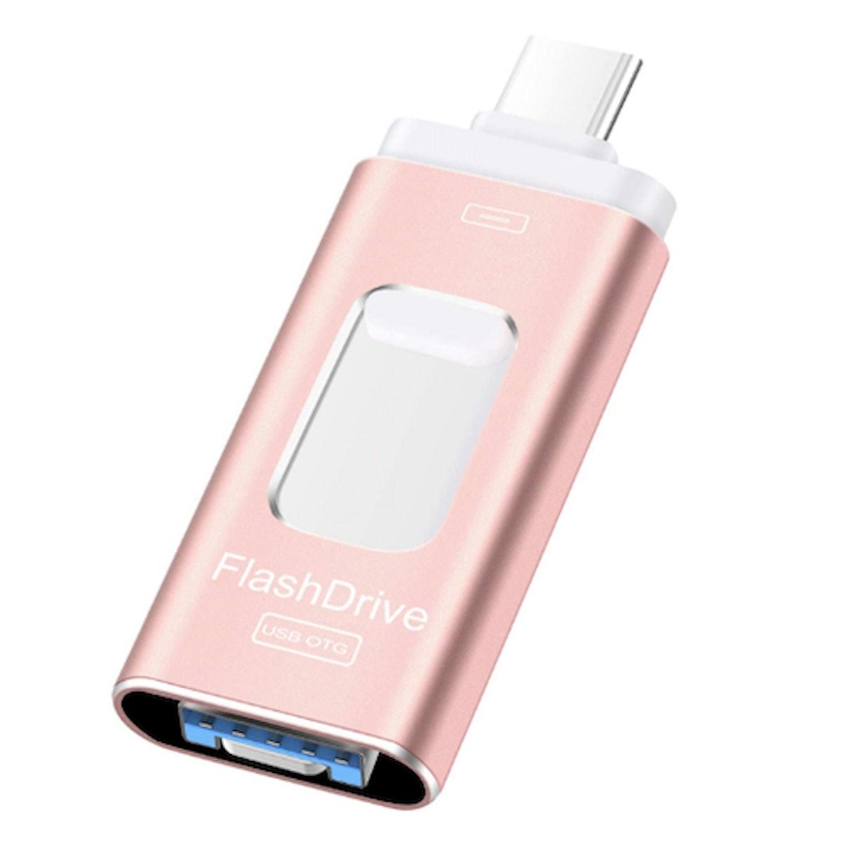 Sunany 3-In-1 USB Flash Drive, 128 GB