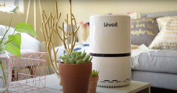 The LV-H132 Levoit Air Purifier on a coffee table