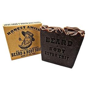 Honest Amish Beard and Body Soap, Extra Grit, 5.6 oz.