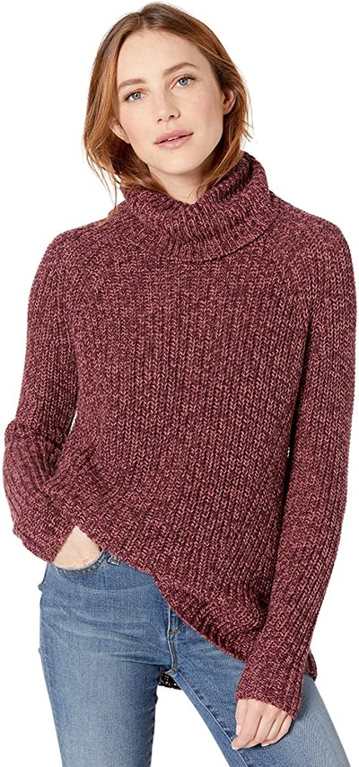 Goodthreads Cotton Shaker Stitch Turtleneck Sweater