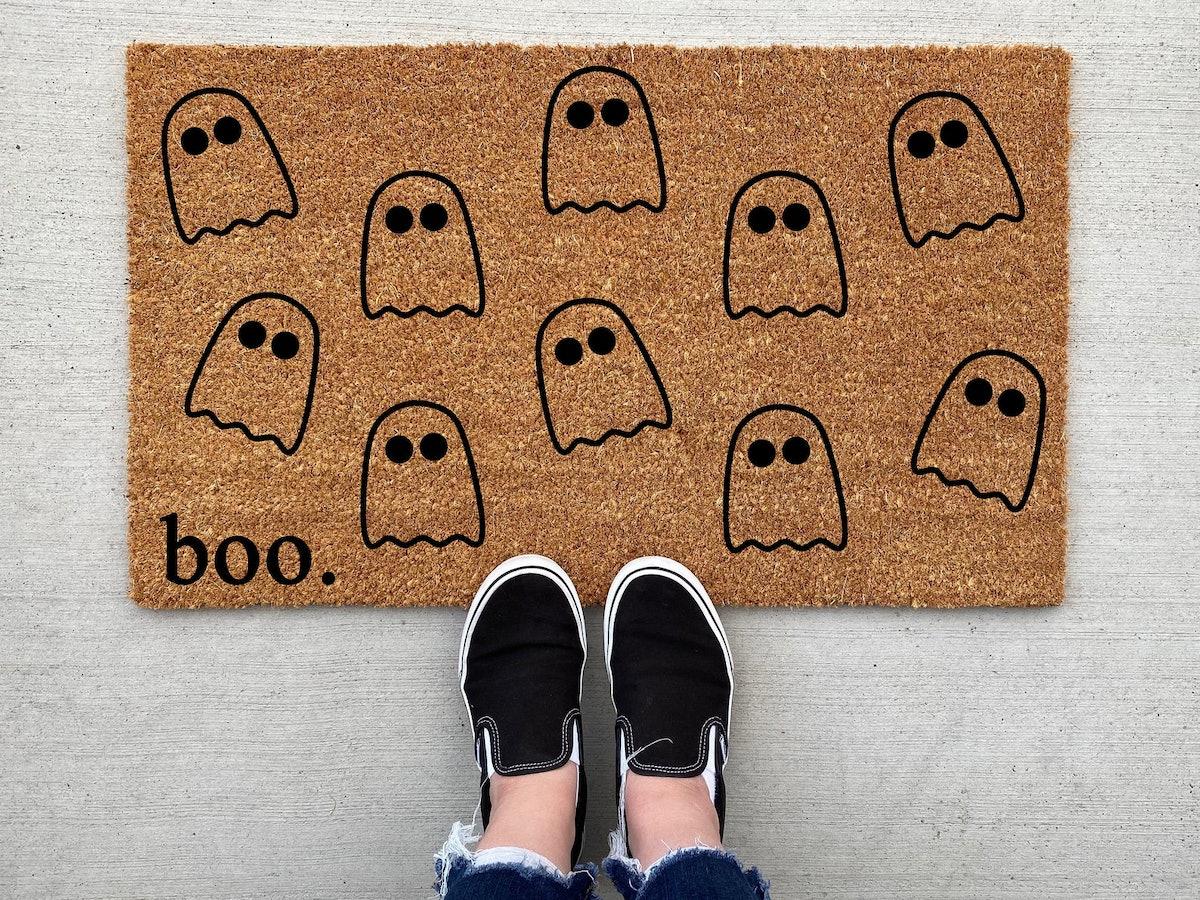 Boo Ghost Halloween Doormat