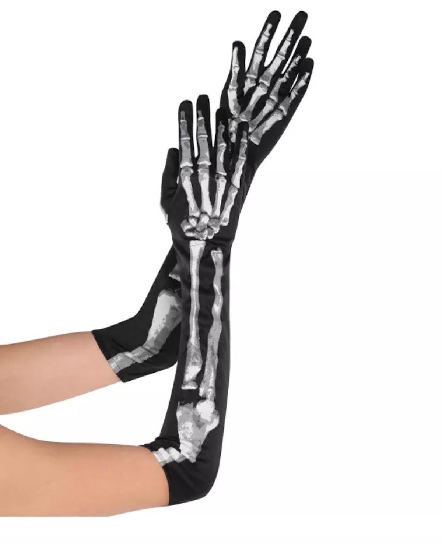 Adult Skeleton Long Gloves