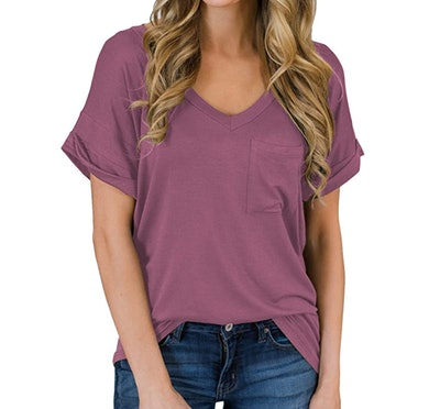 MIHOLL V-Neck Casual Tee