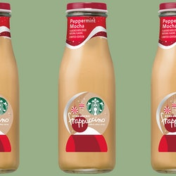 Starbucks has a Peppermint Mocha Frappuccino coming to grocery stores.