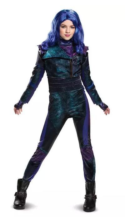 Kids' Deluxe Disney Descendants Mal Halloween Costume Jumpsuit