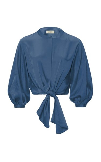 Tie-Detailed Satin Blouse