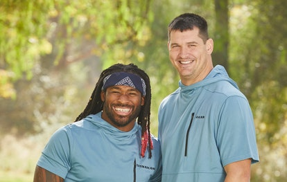 DeAngelo Williams and Gary Barnidge from The Amazing Race via the CBS press site