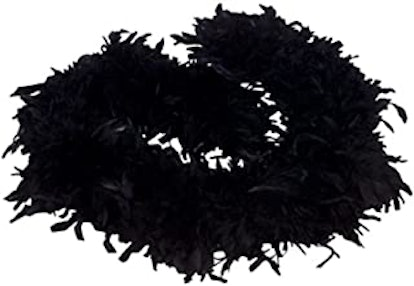 6' Black Play Fancy Dress Up Toy Feather Boa