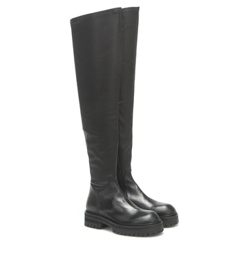 Leather Over-The-Knee Boots