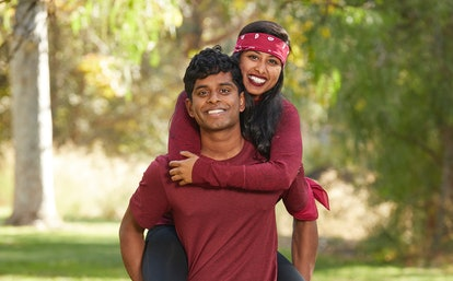 Eswar and Aparna Dhinakaran from The Amazing Race via the CBS press site