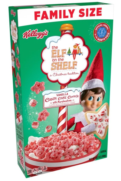 The Elf on the Shelf Cereal Vanilla Candy Cane Cookie