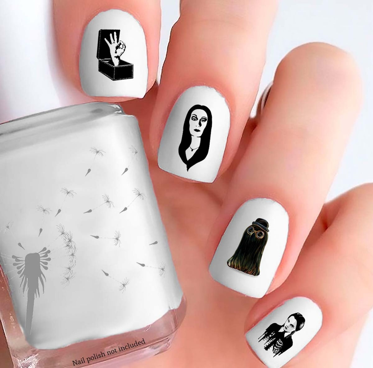 Addams Family Nail Decals