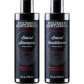 Polished Gentleman Beard Growth Shampoo and Conditioner Set, 4 oz. (2-pack)